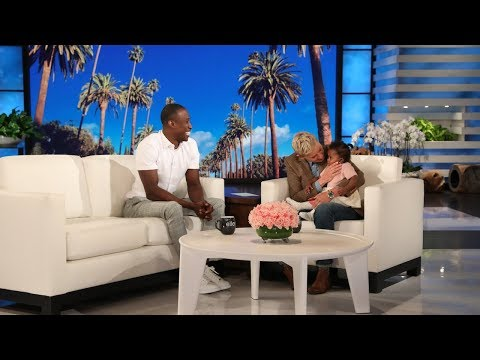 Ellen Meets Viral NYC Firefighter and His Baby Daughter