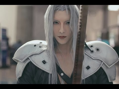 How To Cosplay Cover Eyebrows And Makeup Tutorial Sephiroth Male