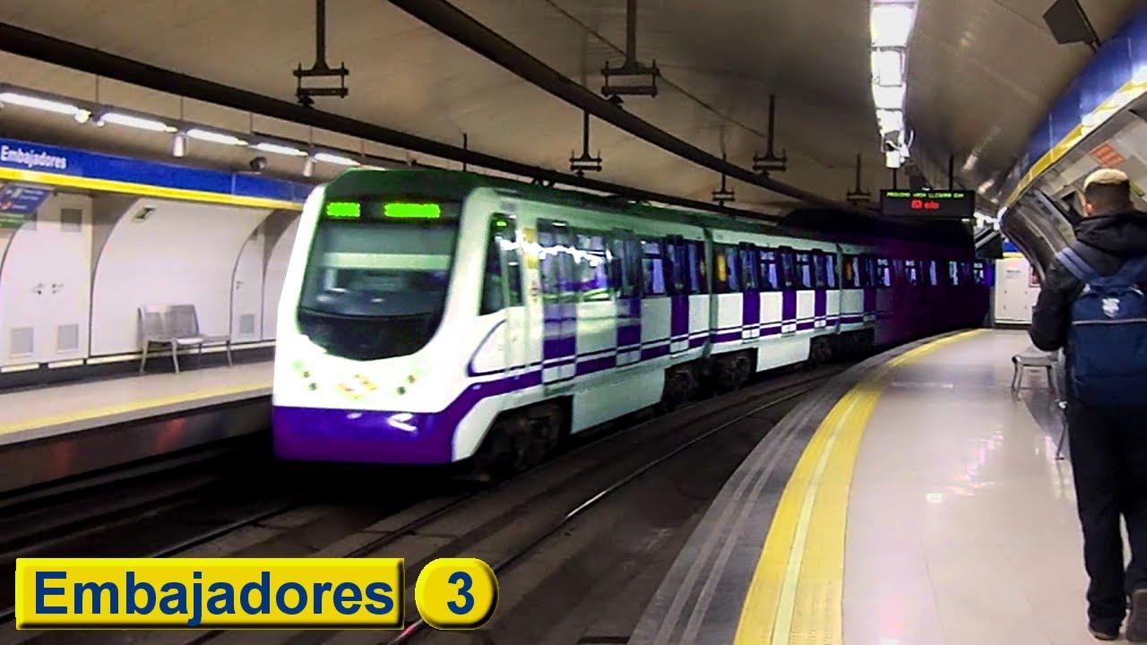 Embajadores L3 Metro De Madrid Serie 3000 Youtube