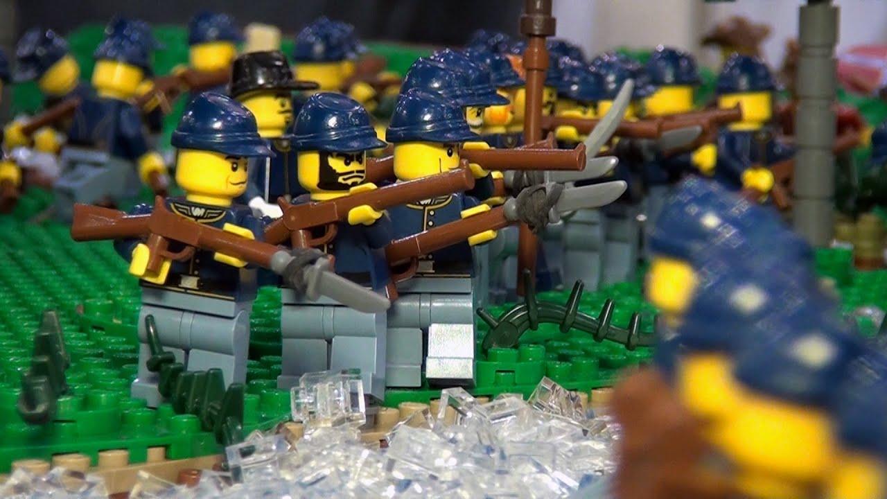 Huge LEGO U S  Civil War Battle of the Wilderness - BrickFair Virginia 2014