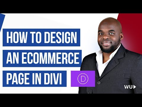 Divi theme tutorial | How to design an ecommerce page in Divi