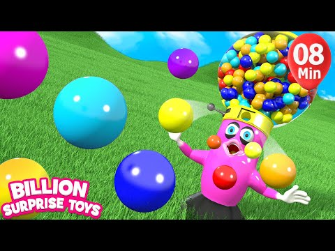 Baby Gumball Candy Fun Song | Nursery Rhyme & Kids Songs - Billion Surprise Toys