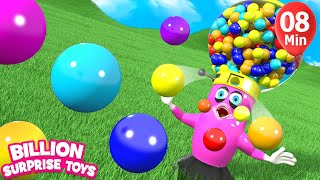 Video Baby Gumball Candy Fun Song | Nursery Rhyme & Kids Songs - Billion Surprise Toys download MP3, 3GP, MP4, WEBM, AVI, FLV Juli 2018