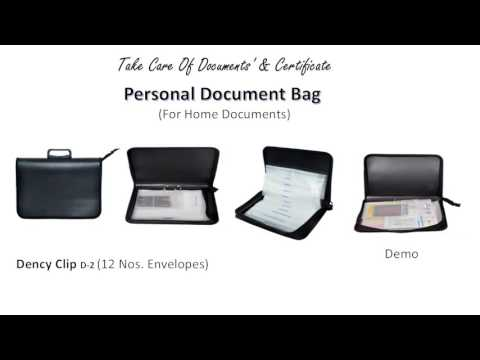 Personal Paper Kit, Home Documents Bag, File, Folder