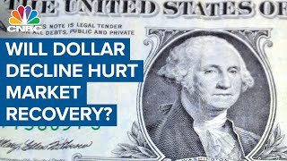 A dramatic dollar decline won't hurt the market recovery: Tony Dwyer