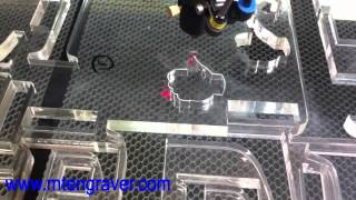 100w laser cutting on 20mm acrylic video