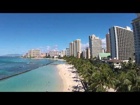 Waikiki Beach in Hawaii near the Honolulu Zoo DJI Phantom Drone