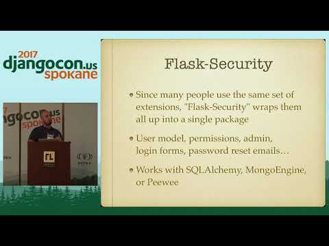 "DjangoCon US 2017 - Django vs Flask by David ""DB"" Baumgold"