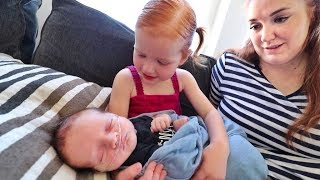 Adley meets Baby Brother!!  (so adorable) YouTube Videos