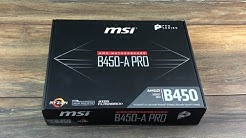 MSI B450-A-Pro Mainboard AM4 für AMD Ryzen # Review & Unboxing