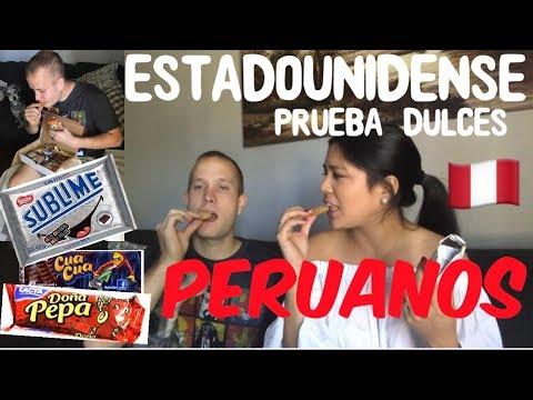 ESTADOUNIDENSE PRUEBA POR PRIMERA VEZ MUCHOS SNACKS Y DULCES PERUANOS