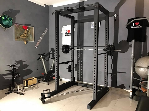 The power rack gabbia home garage gym bodybuilding crossfit