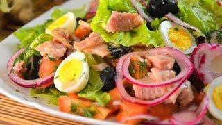 САЛАТ С ТУНЦОМ Один из САМЫХ ВКУСНЫХ и ПОЛЕЗНЫХ рыбных салатов