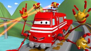 Поезд Трой и Разбивающий камни в Автомобильный Город |Мультфильм для детей