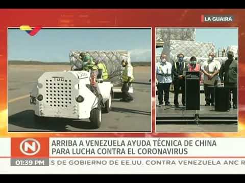 Llegan a Venezuela 500 mil kits de despistaje del Covid-19 enviadas por China
