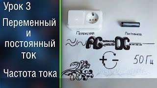 видео Что такое переменный ток и чем он отличается от тока постоянного