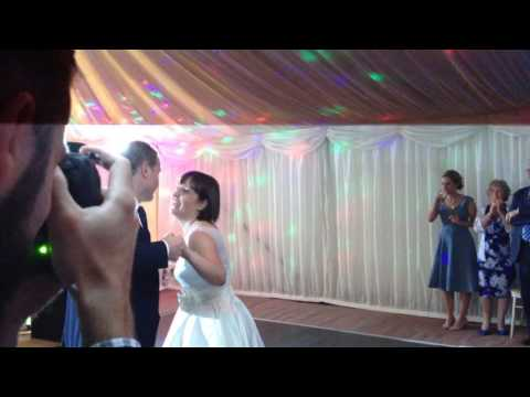 First dance for Laura & Ian Love is in the air