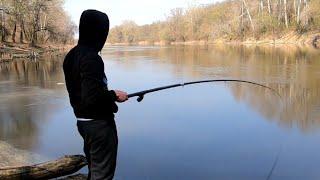Рыбалка на поплавок и донку на реке Рыбалка весной на реке