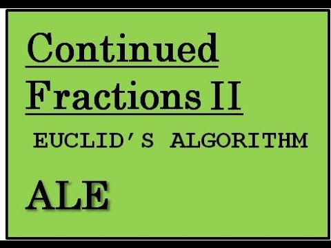 Continued Fraction Expansions Part II: Example Calculations