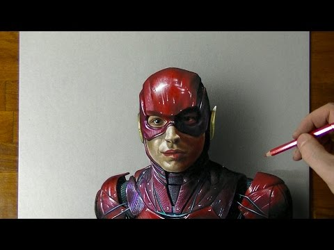How to draw The Flash   Ezra Miller (Suicide Squad, Justice League)