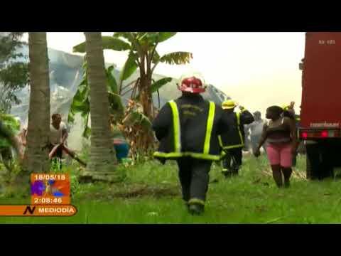 Cae avión tras despegar en Cuba