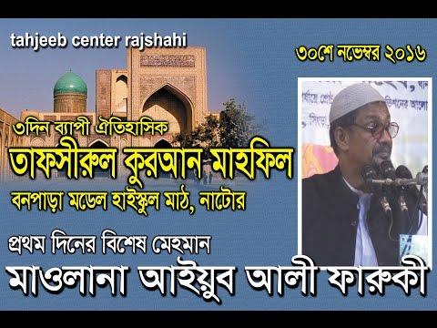 New Bangla waz- Mowlana Aiub ali faruqi পবিন বক্তা মাওলানা আইয়ুব আলী ফারুকী (পাবনা)