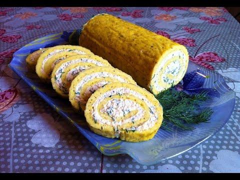 Рулет из Омлета с Плавленными Сырками/Roll The Omelet/Простой Рецепт(Очень Вкусно и Быстро)