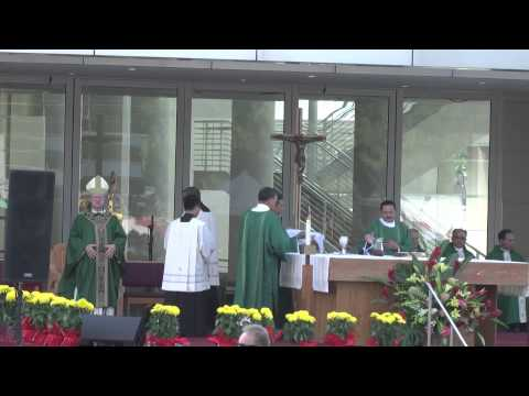 First Mass at Christ Cathedral, Garden Grove, Orange County, California 2013 - P2