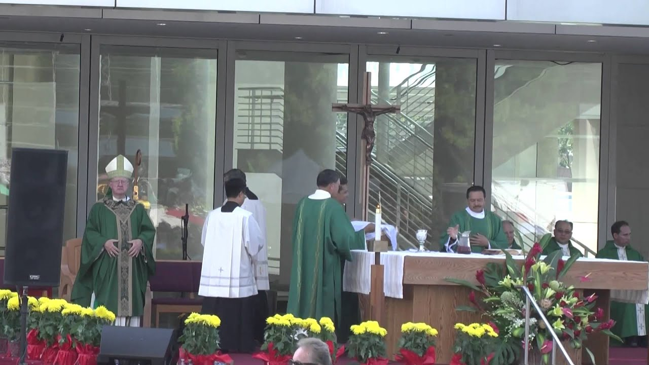 First Mass At Christ Cathedral, Garden Grove, Orange County, California  2013   P2   YouTube