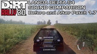 DiRT Rally 2.0 - Lancia Delta S4 Sound Comparison - Before and After Patch 1.7