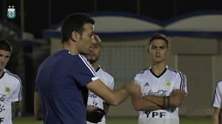 Último entrenamiento de la Selección Argentina antes del encuentro contra Irak