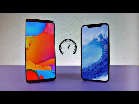 Samsung Galaxy S9 Plus vs iPhone X - Speed Test! (4K)