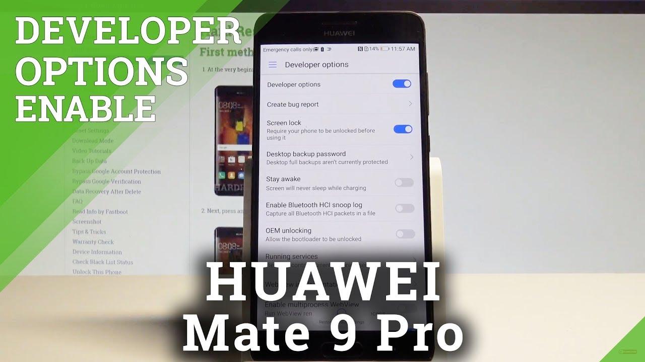 How to Unlock Developer Options in HUAWEI Mate 9 Pro - Allow OEM Unlocking  |HardReset Info
