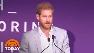Prince Harry Delivers Moving Speech About Fatherhood, Princess Diana | TODAY