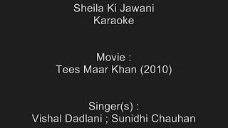 Download Hindi Video Songs - Sheila Ki Jawani - Karaoke - Sheila Ki Jawani - Vishal Dadlani ; Sunidhi Chauhan