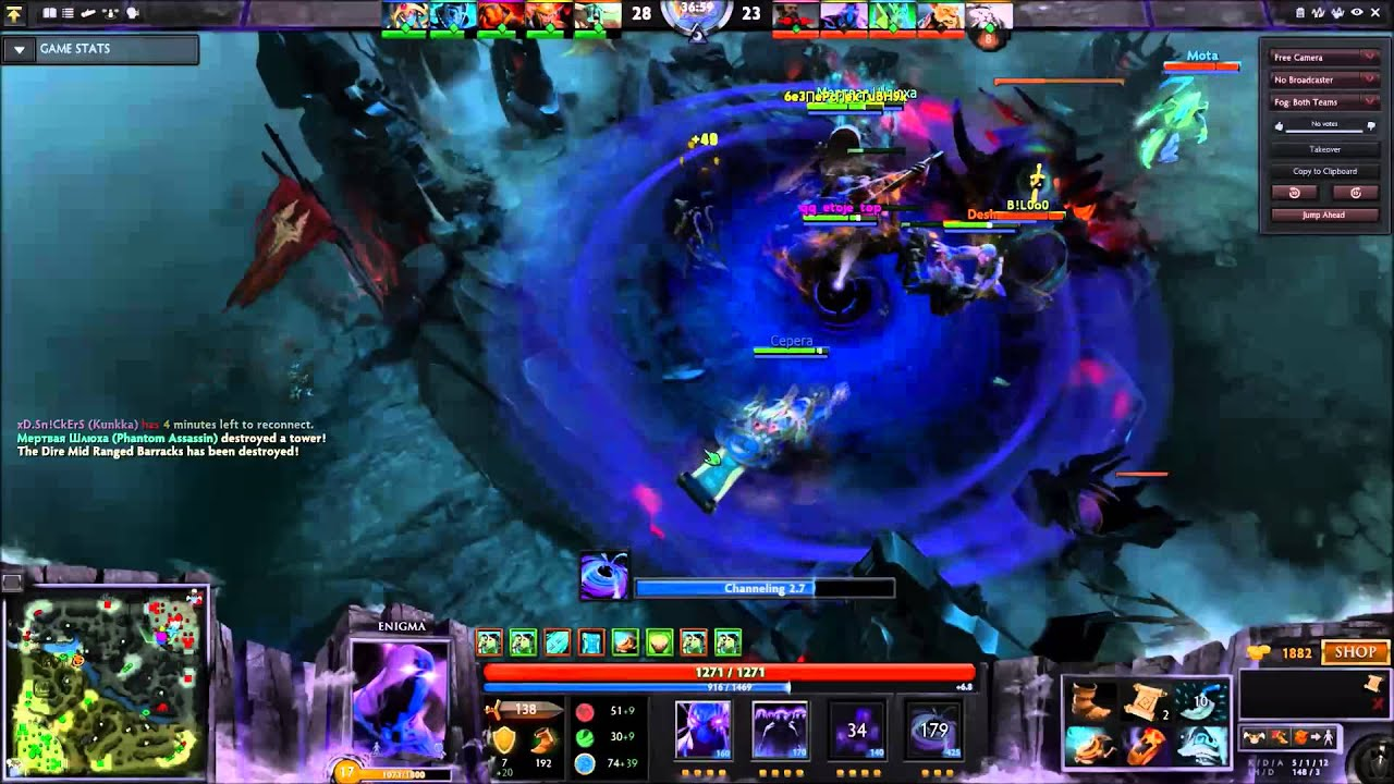 dota 2 enigma 5 man blackhole youtube