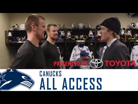Brock Boeser's First Day with Canucks - All Access