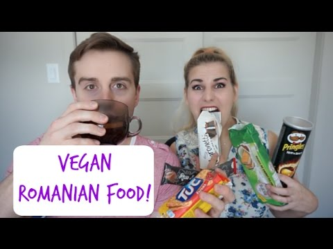 Canadians Try Vegan Romanian Food!!