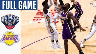 Pelicans vs Lakers Full Game Highlights! January 3, 2020 NBA Season | NBA 2K20