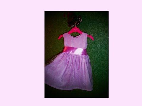 Нарядное платье для девочки ЧАСТЬ 4 сборка платья