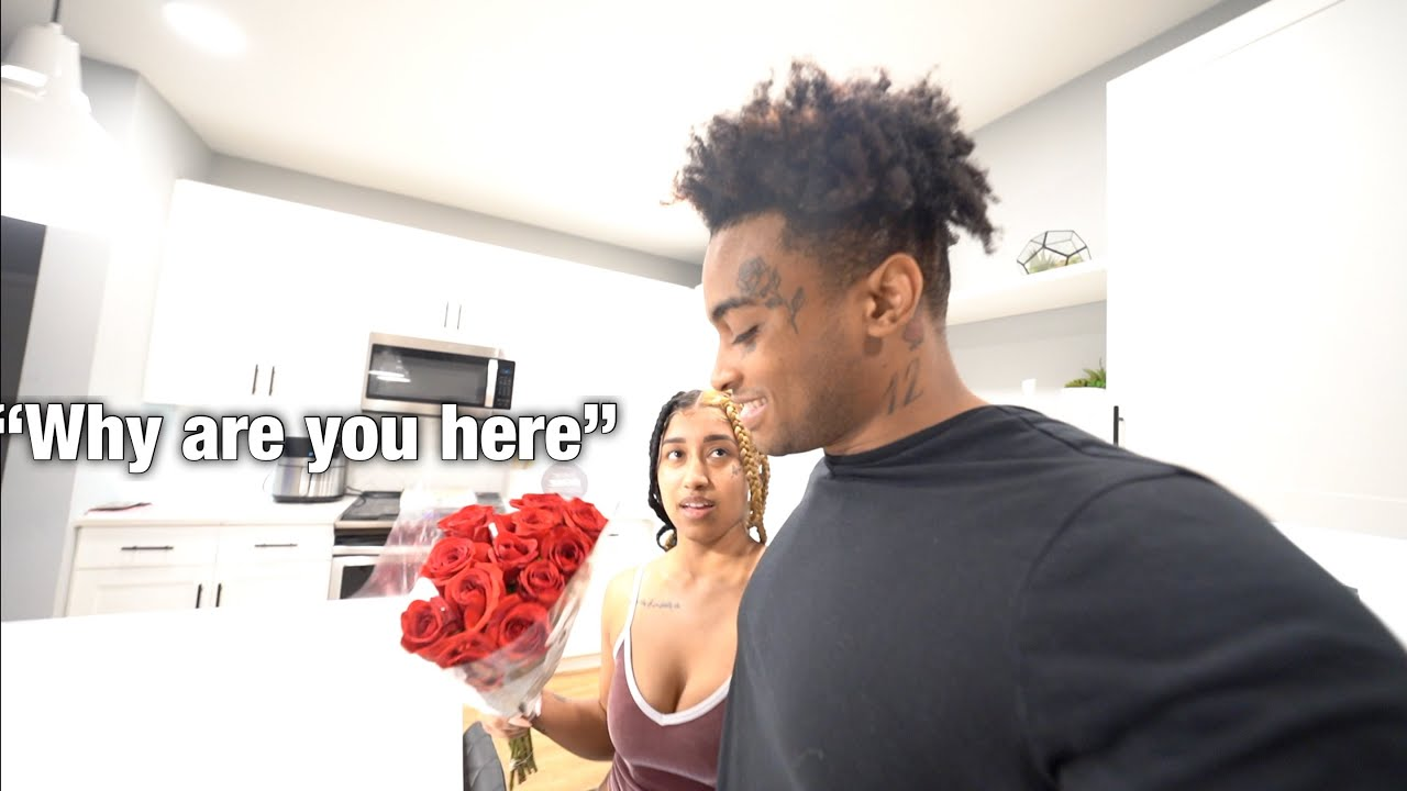 I PULLED UP ON MY EX UNEXPECTEDLY WITH FLOWERS & CHOCOLATE! ❤️ *she told me to leave*