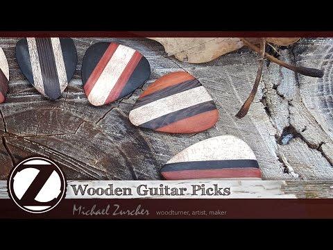 Wooden Guitar Picks Rock : Making of