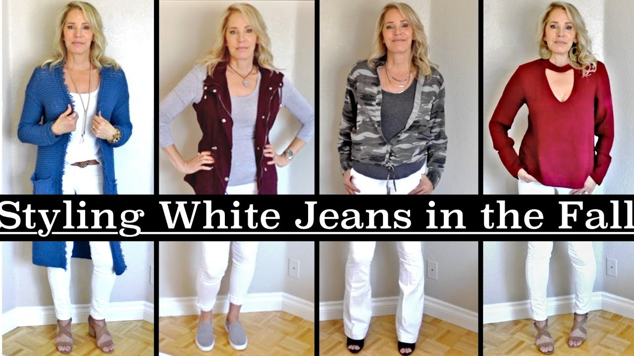 Fall Outfits - With White Jeans. 2