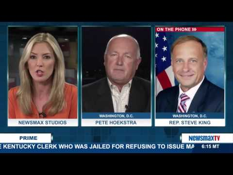 Newsmax Prime | Rep. Steve King and Pete Hoekstra talks about the Russian airstrikes