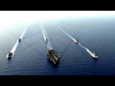 Nimitz Strike Group In Formation 2013