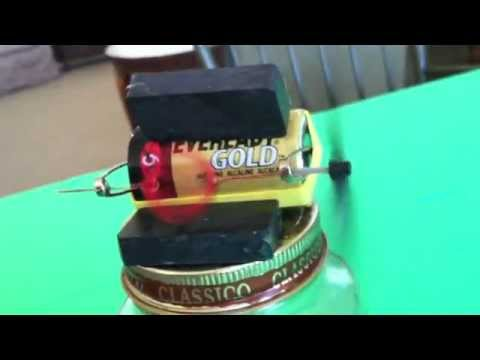 Electricity and magnetism simple electric motor youtube for Simple electric motor science project