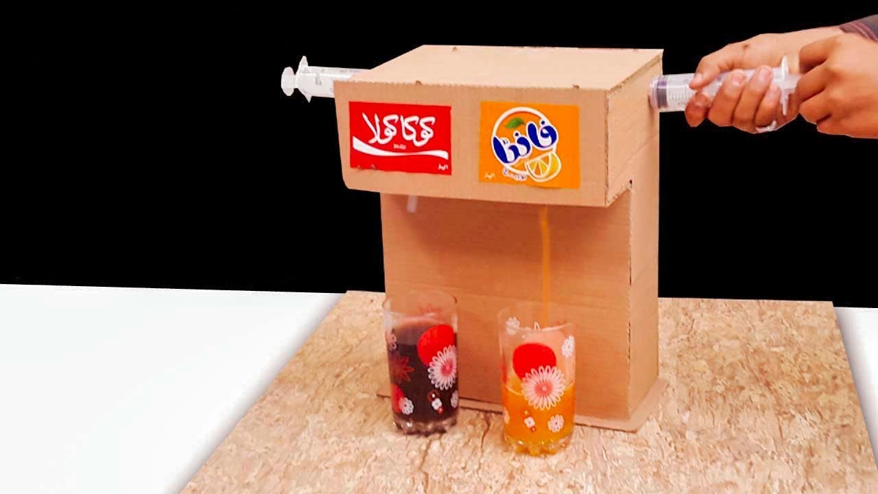 How To Make Coca Cola Soda Fountain Machine With 2 Drinks At Home