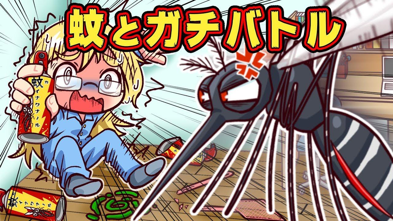 部屋の中の蚊とガチで戦うアニメ【アニメ】【マンガ】