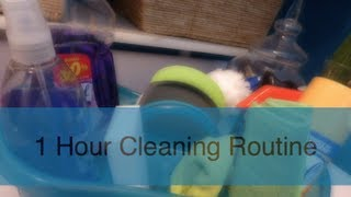 1 Hour Home Cleaning Routine