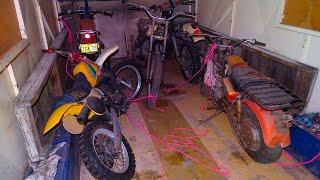Abandoned: Factory turned body shop - vehicles,motorbikes & sleeping fox encounter
